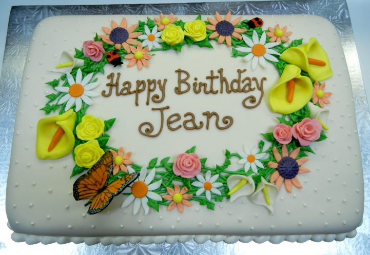 Floral Jean b-day